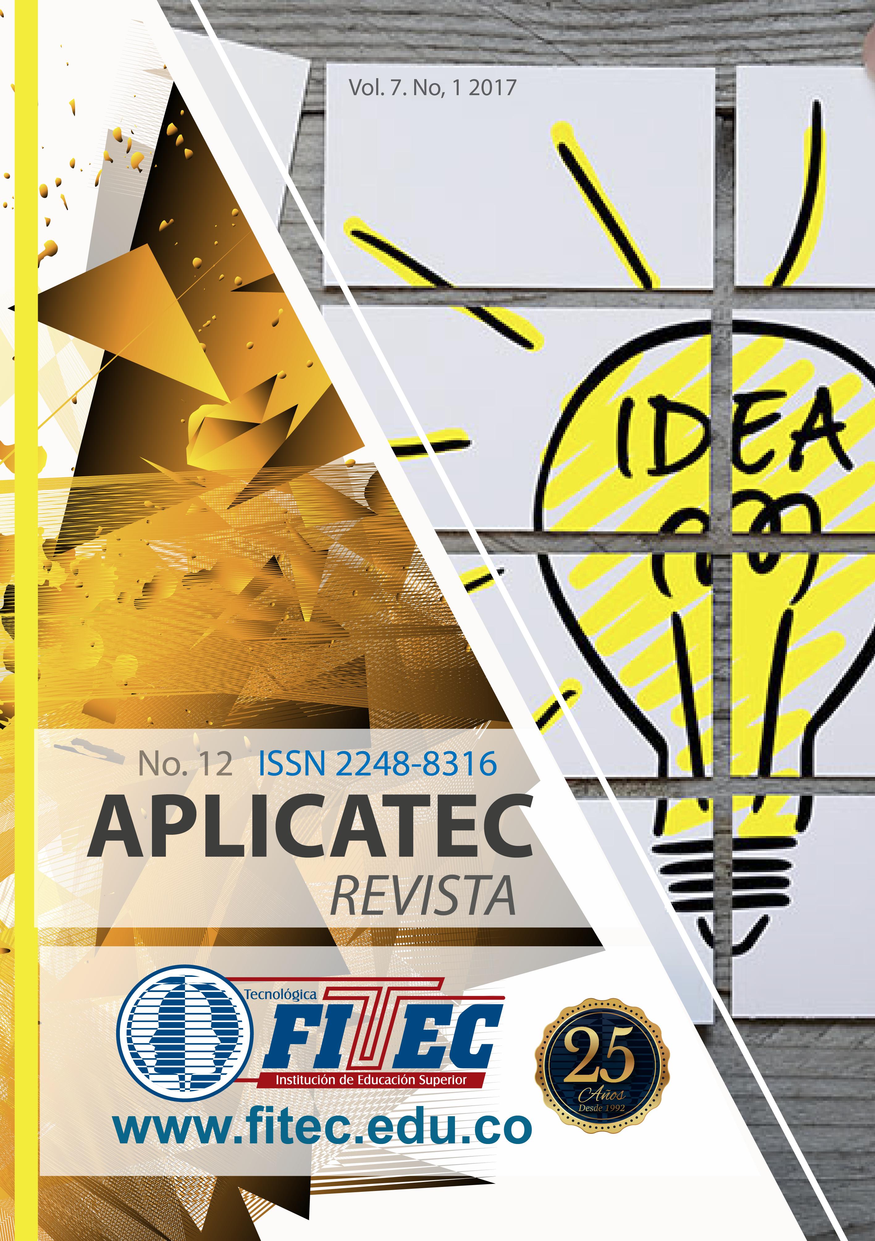 Aplicatec Volumen 7 No. 1 2017